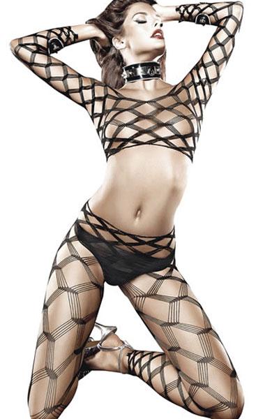 Diamond Net Bodystocking by Baci