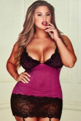 Queen size Chemise - bella curves lingerie