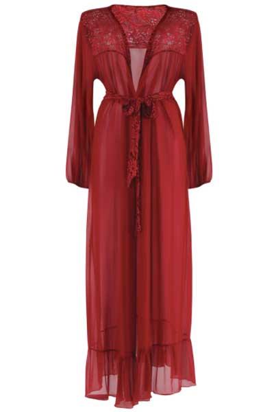 Plus size 1920s dressing gown - bella curves lingerie