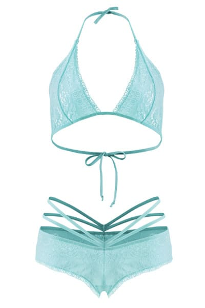 plus size Bralette and Caged Shorties Set