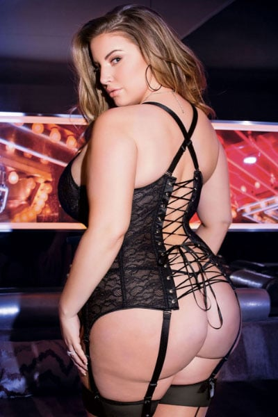 midnight bustier - plus size lingerie from bella curves lingerie