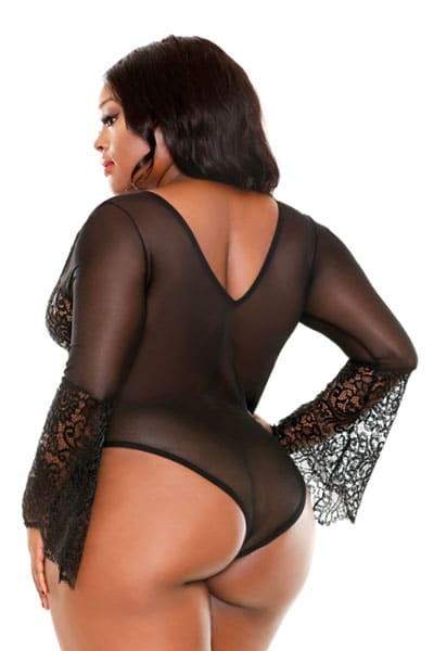 Queen size bodysuit bell sleeve