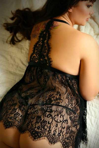 Luna Serenade Queen Size Babydoll - bella curves lingerie