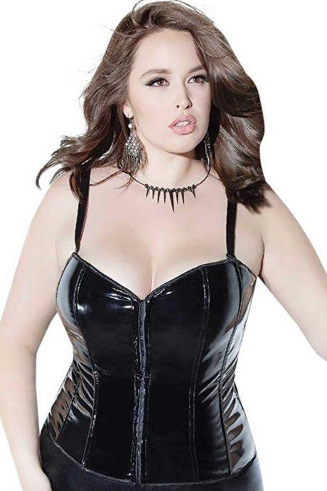 plus size pvc corset