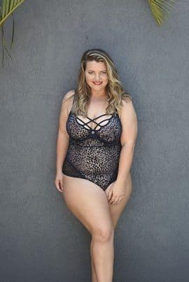 Bella Curves Callie Teddy - plus size lingerie