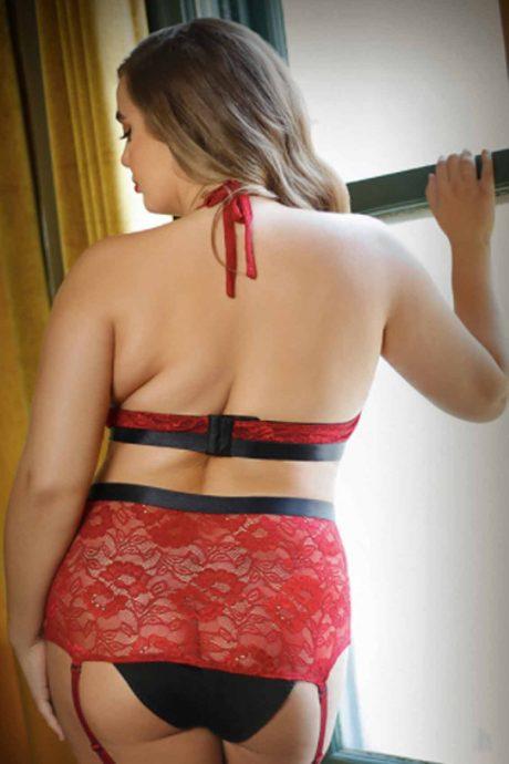 lace bra and highwaist panty set